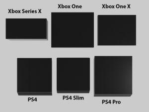 Comparativa de tamaños entre Xbox Series X y otras consolas