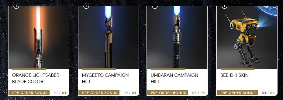 El sable láser naranja ya está disponible en Star Wars Jedi Fallen Order para todo el mundo