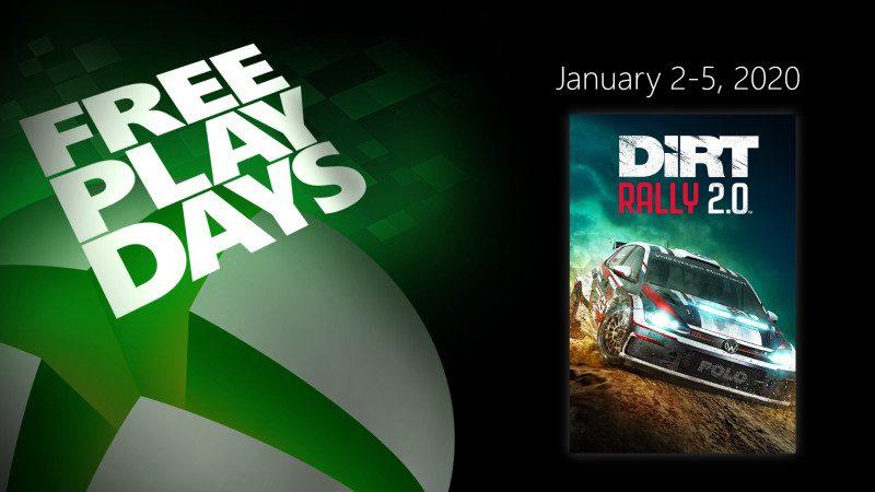 DiRT Rally 2.0 será gratis este fin de semana con los Free Play Days