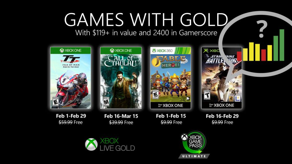 Vota: ¿Qué os parecen los Games With Gold de febrero?