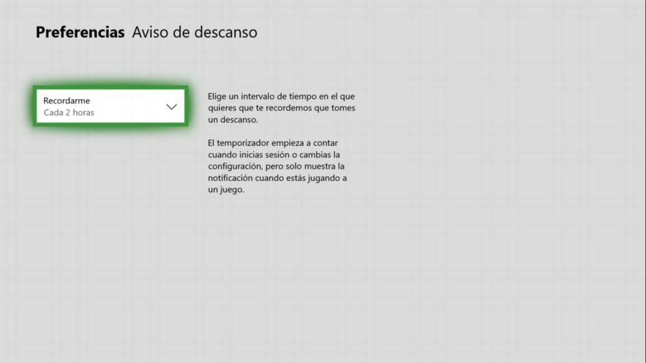 Tutorial: Configura el aviso de descanso en tu Xbox