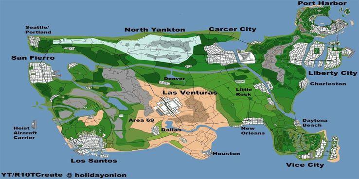 Mapa GTA VI
