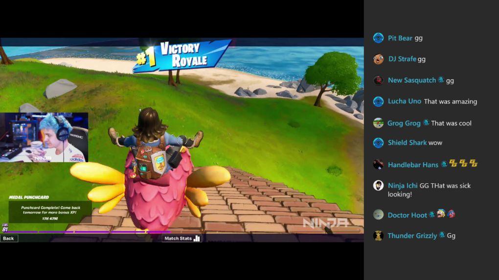Mejoras en el visionado de Mixer en Xbox