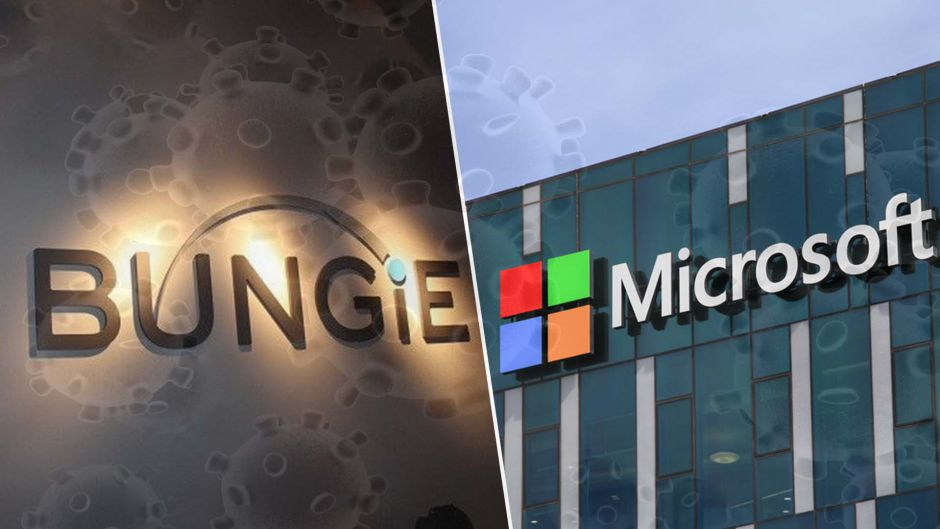 Empleados de Microsoft y Bungie, trabajarán desde casa a causa del Coronavirus