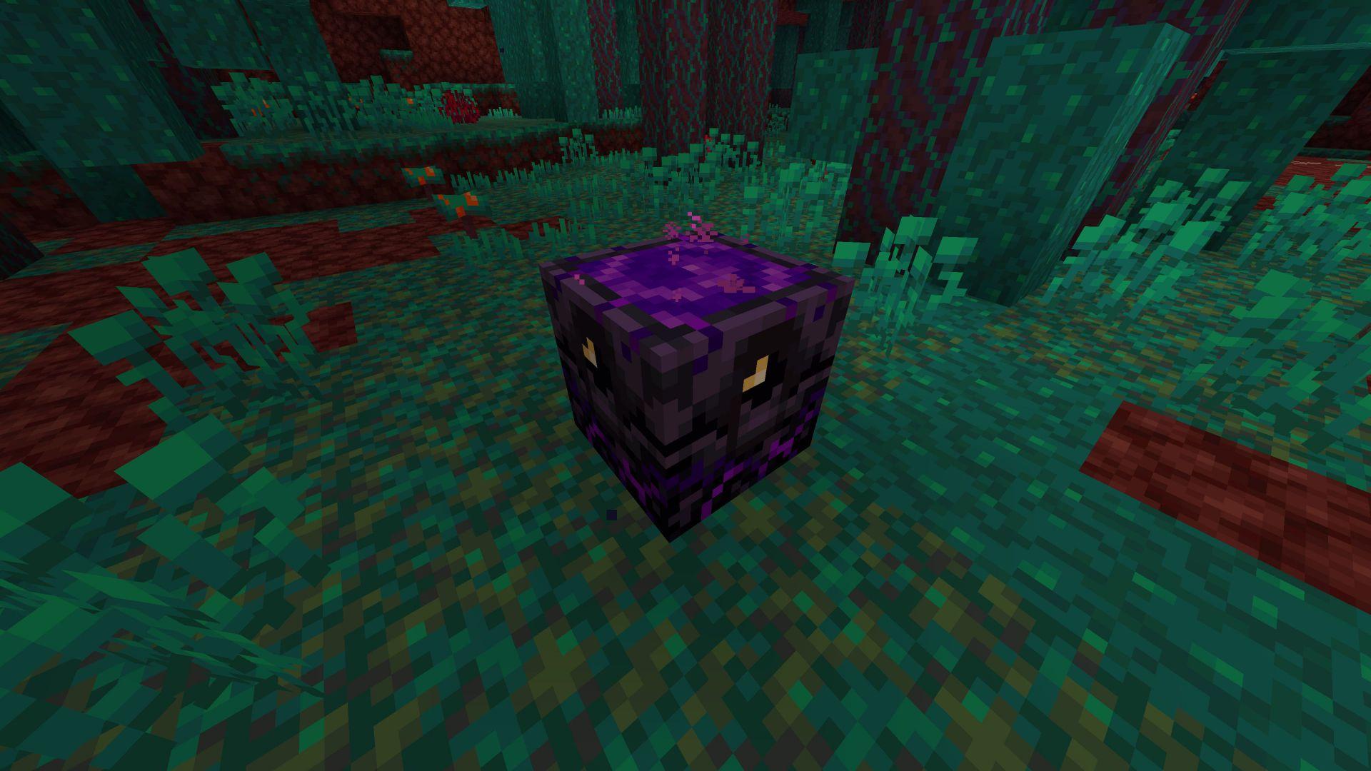 Nivel 1 de la antorcha de reaparición del Nether en la 1.16 de Minecraft