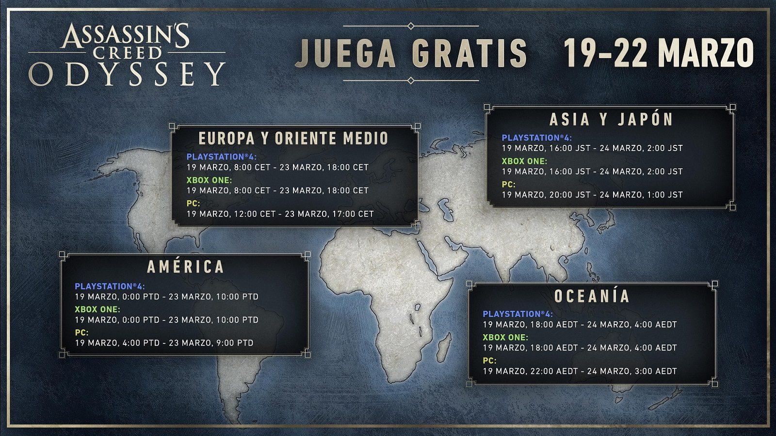 Odyssey, el videojuego gratis desde hoy — Assassin's Creed