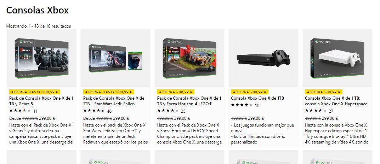 Packs Xbox One X