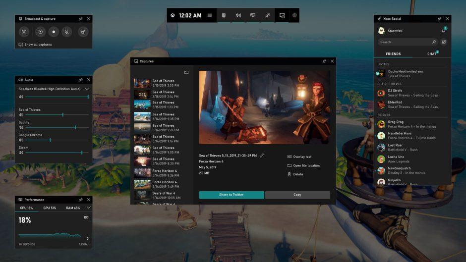 Nueva actualización disponible para Xbox Game Bar