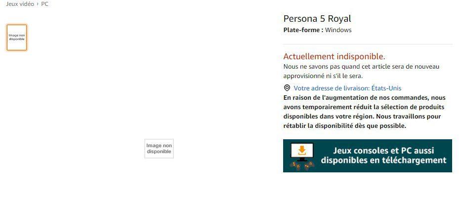 Amazon Francia - Persona 5