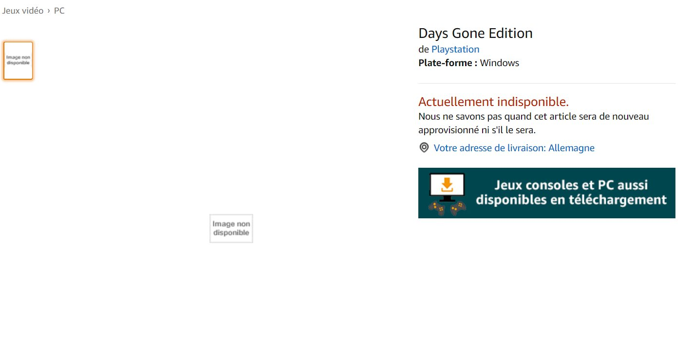 Amazon Francia - Days Gone