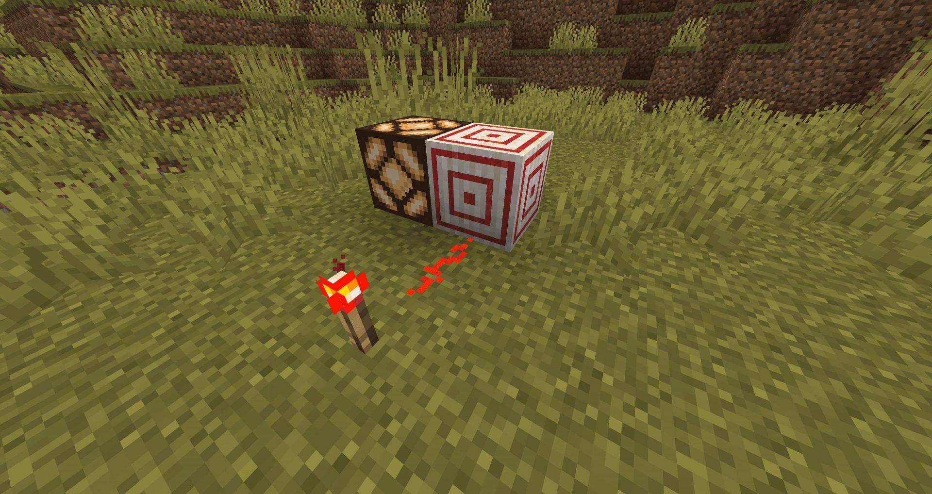 Bloque de Diana dando señal de Redstone en la 20W18A de Minecraft nether Update