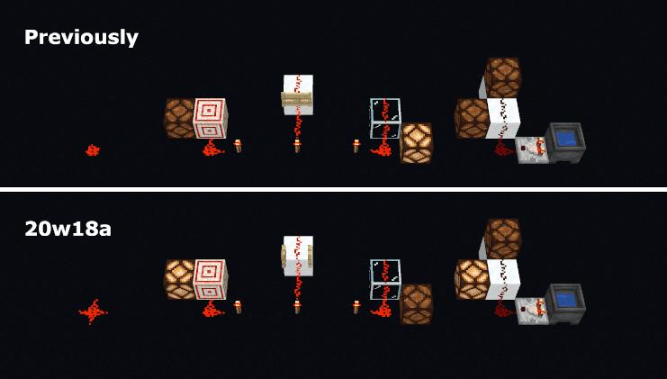 Comparación entre la 1.15.2 y la Snapshot 20W18A de Minecraft 1.16