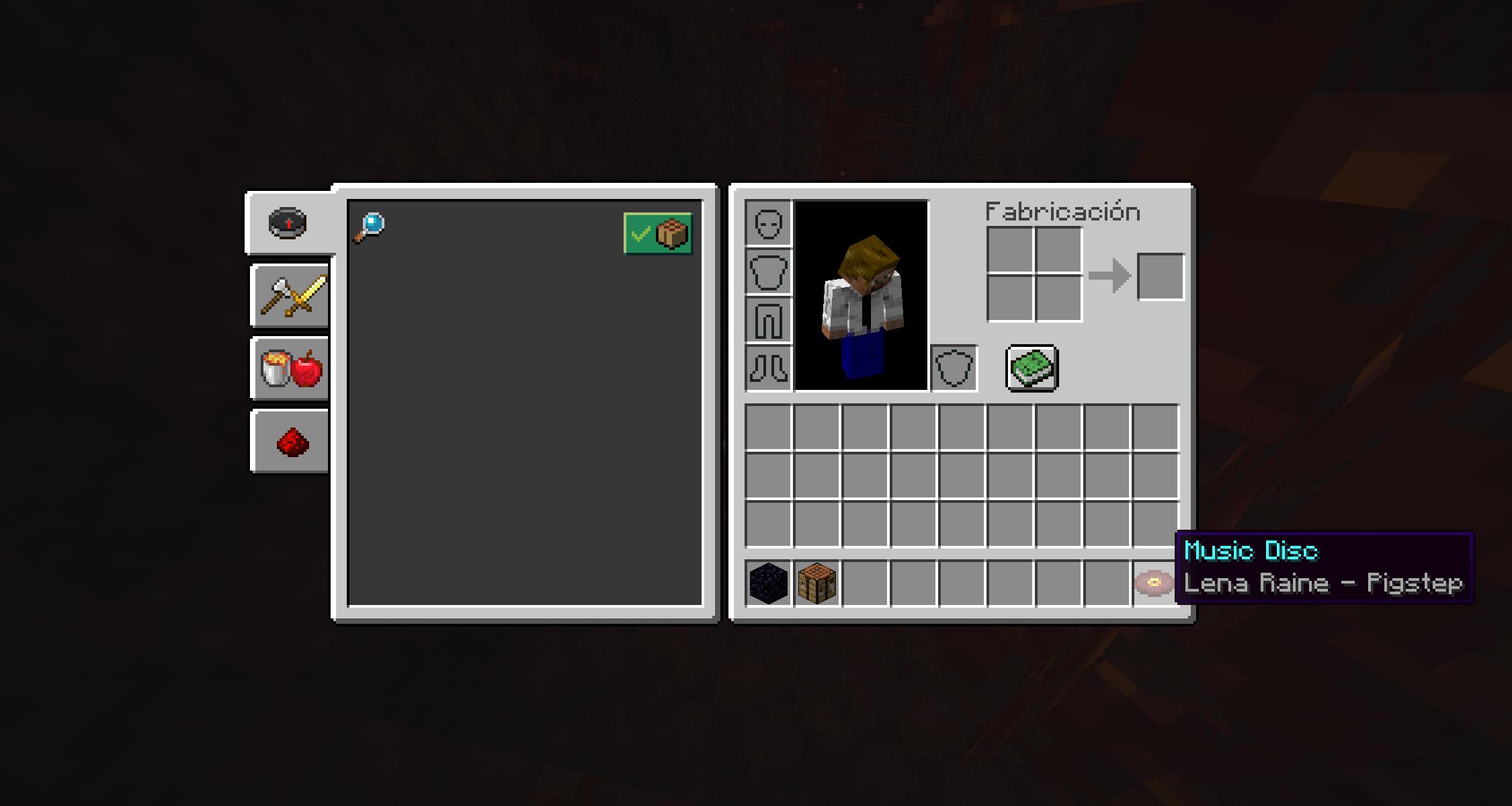 Disco de música Pigstep que encontramos en los bastiones en la Minecraft Nether Update Snapshot 20W16A