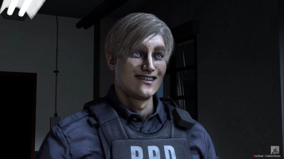 Un poco de humor, la fiesta de Leon S. Kennedy en Resident Evil