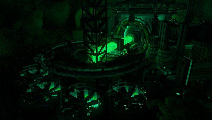 Luces en la oscuridad de Minecraft RTX