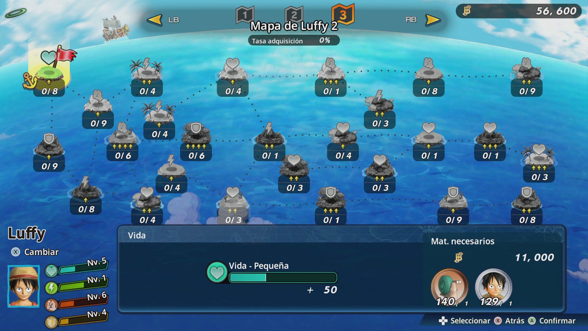 Mapa 2 de un personaje en One Piece Pirate Warriors 4