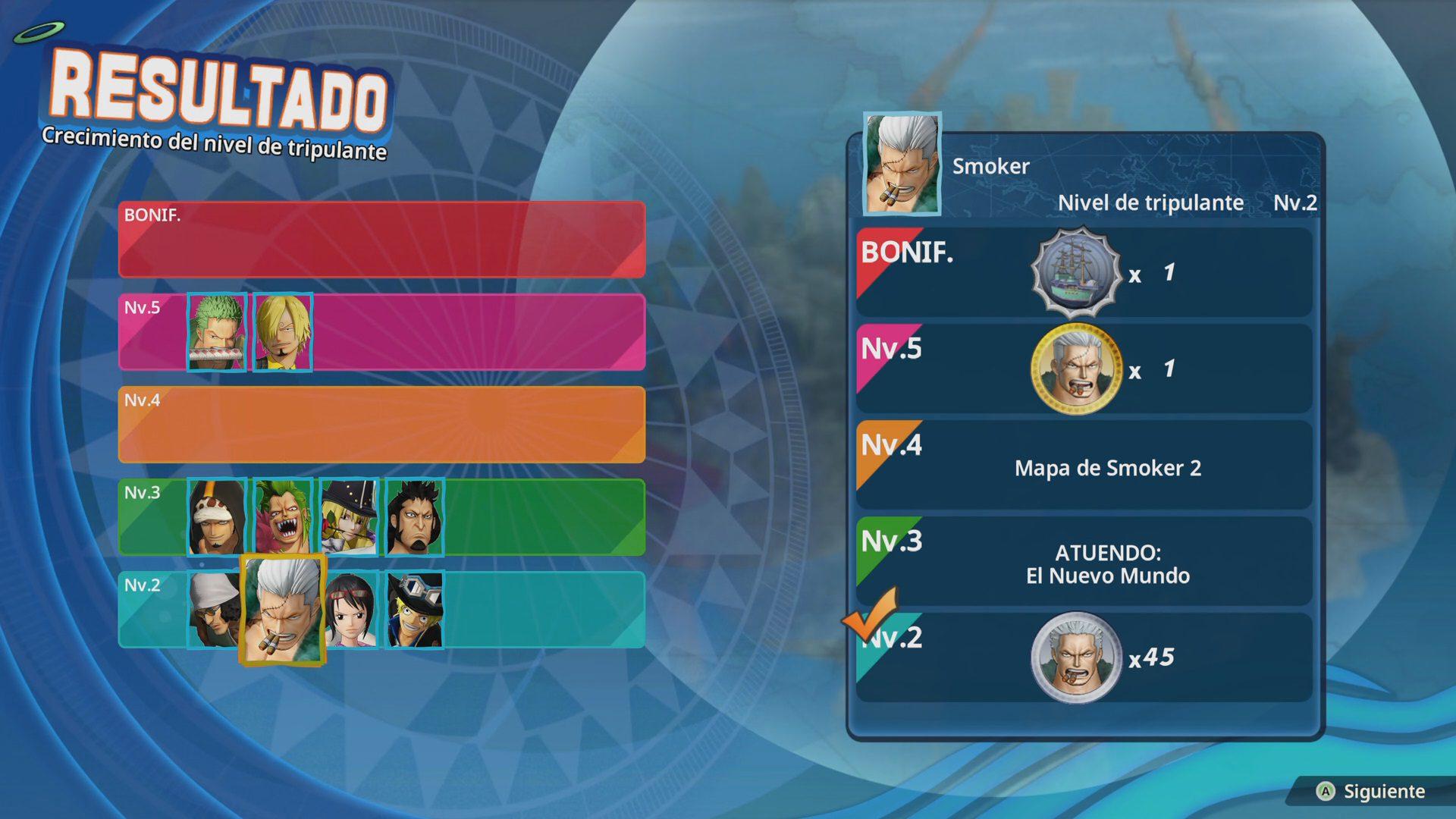 Mejora de personajes en One Piece Pirate Warriors 4
