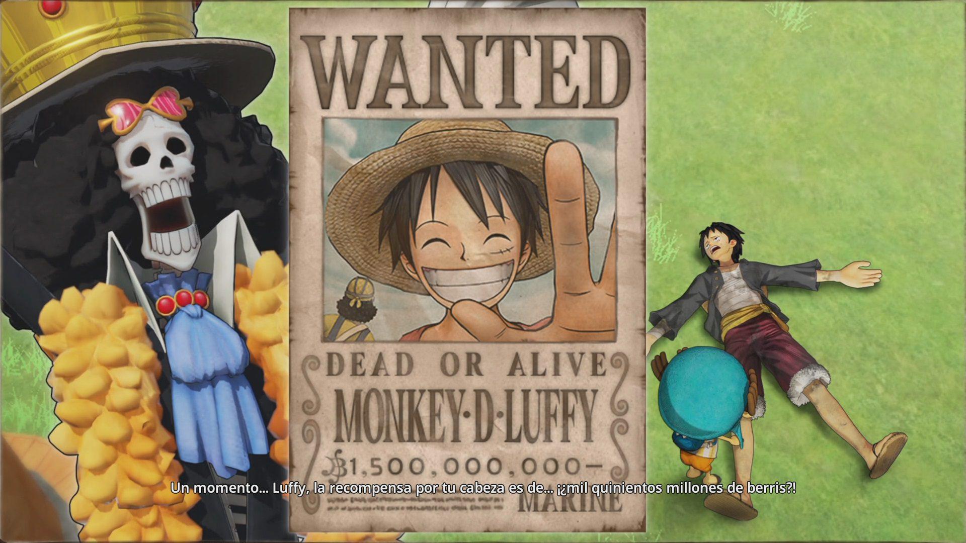 Recompensa de Luffy en One Piece Pirate Warriors 4