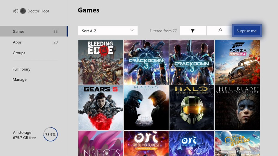 Sorprendeme de la actualización de abril 2020 de Xbox ONe