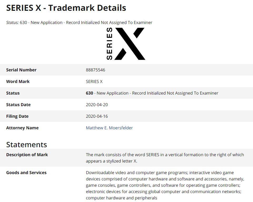 Xbox Series X ya tiene logo oficial - La maquinaria sigue moviéndose y Microsoft sigue haciendo movimientos. En esta ocasión, ha registrado el nuevo logo de Xbox Series X.