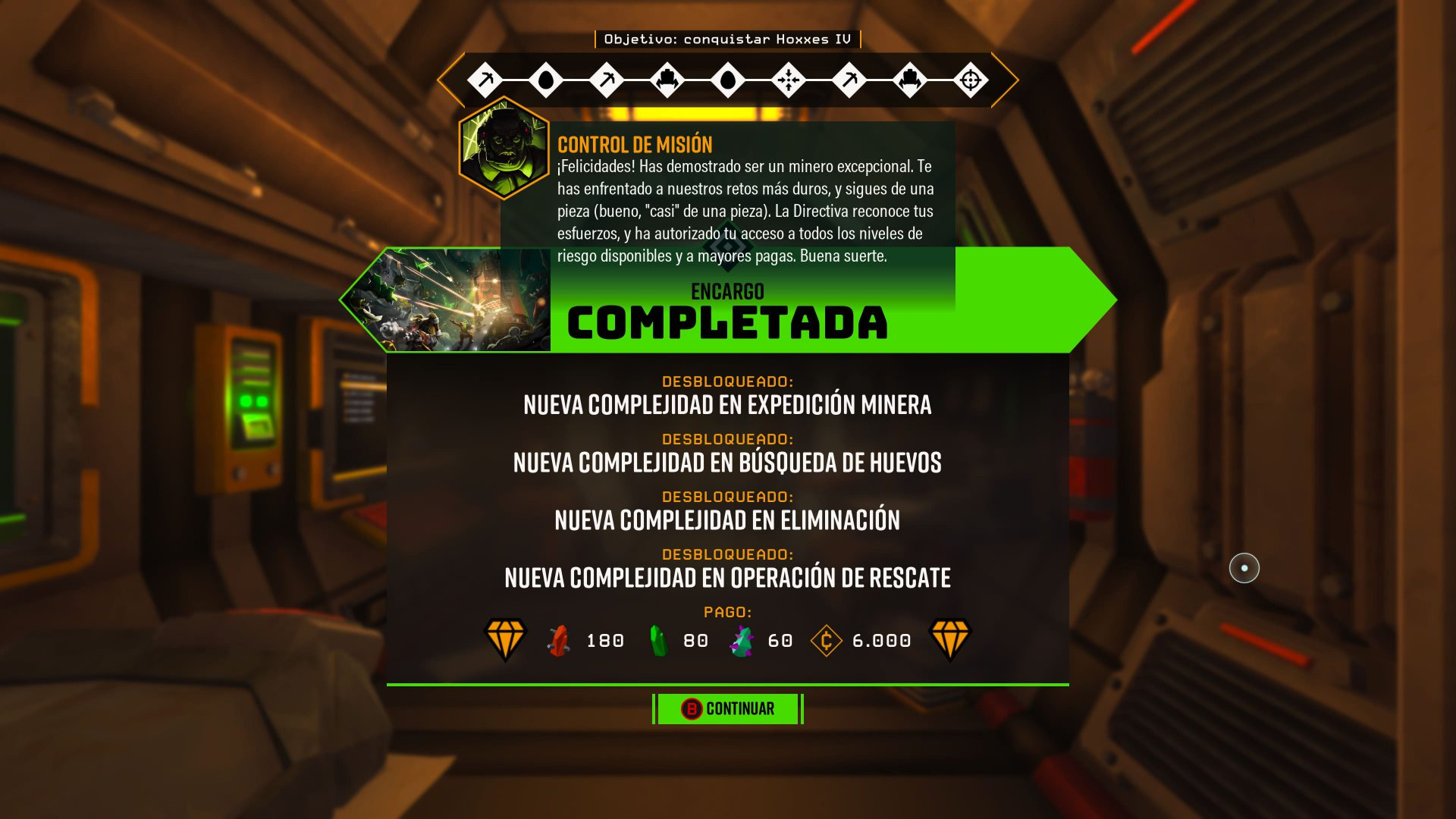 Unlock the game and complete the order in Deep Rock Galactic