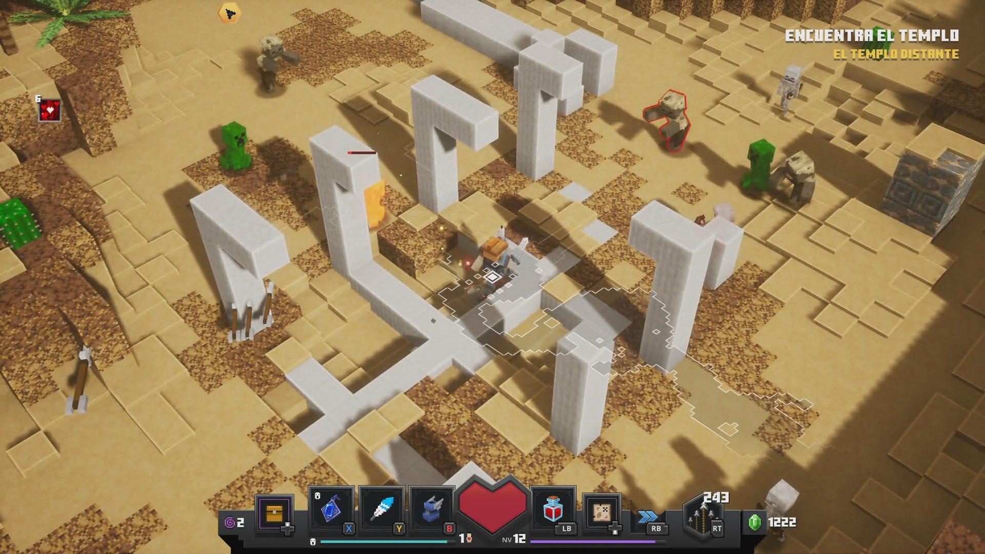 Diseño de MInecraft Dungeons 3