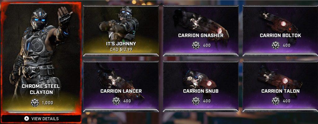 Gears 5 recibe de nuevo el evento OSOK de snipers, y nuevos cambios en la tienda semanal