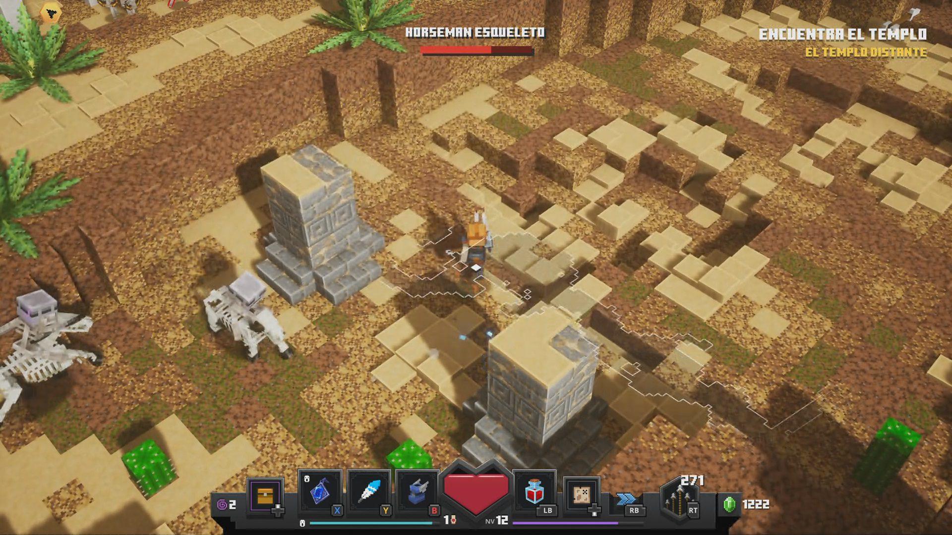 Jinetes el apocalipsis como mini-boss de Minecraft Dungeons