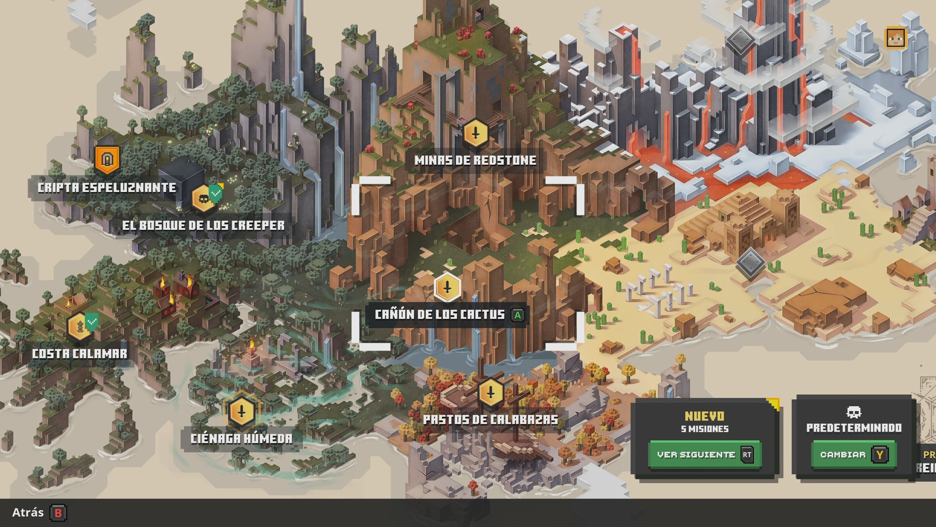 Mapa 1 en Minecraft Dungeons