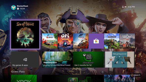 Mejoras del menú inicio de Xbox One en Insider en la actualización