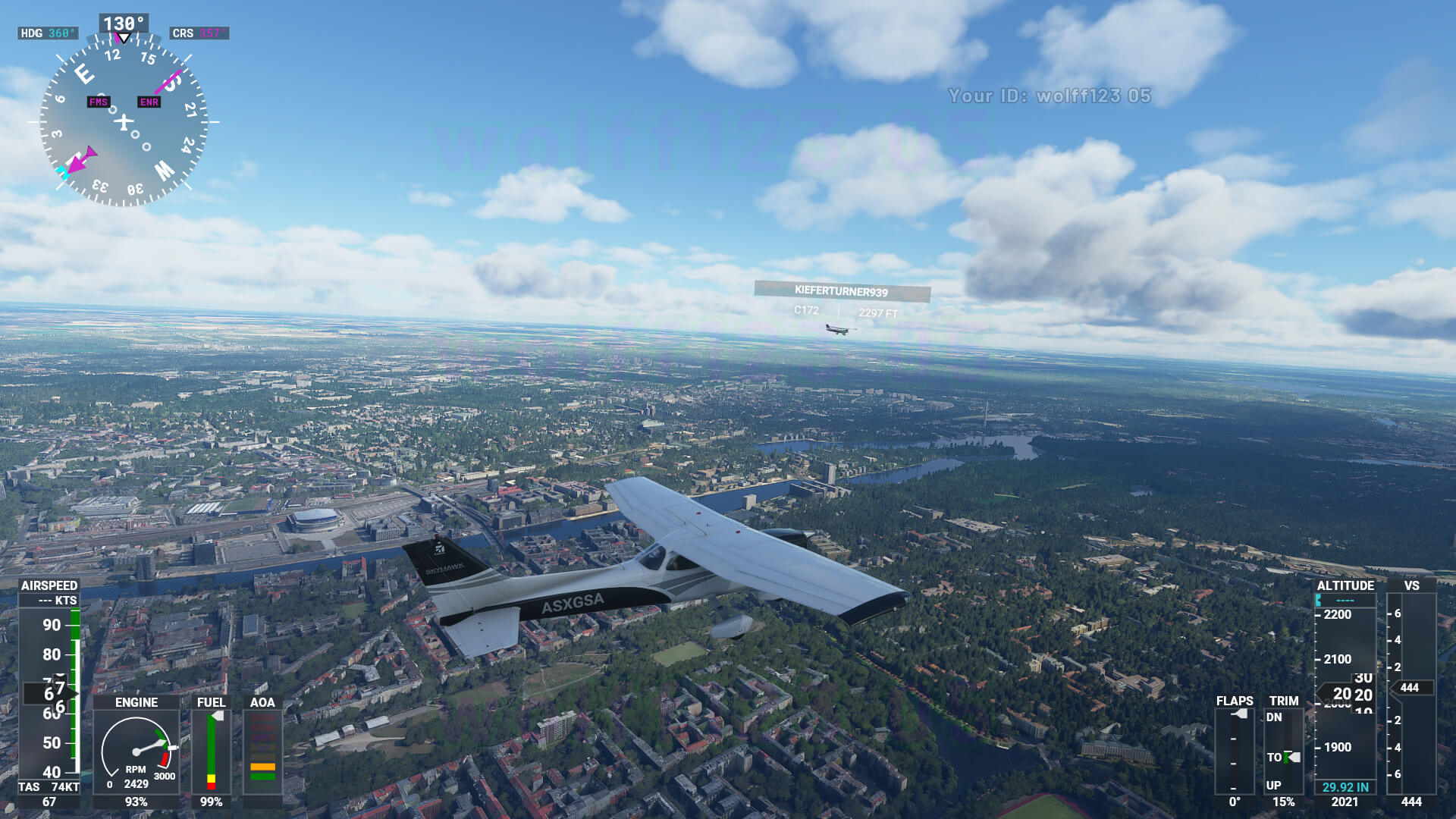 Microsoft Flight Simulator captura 10 HUD