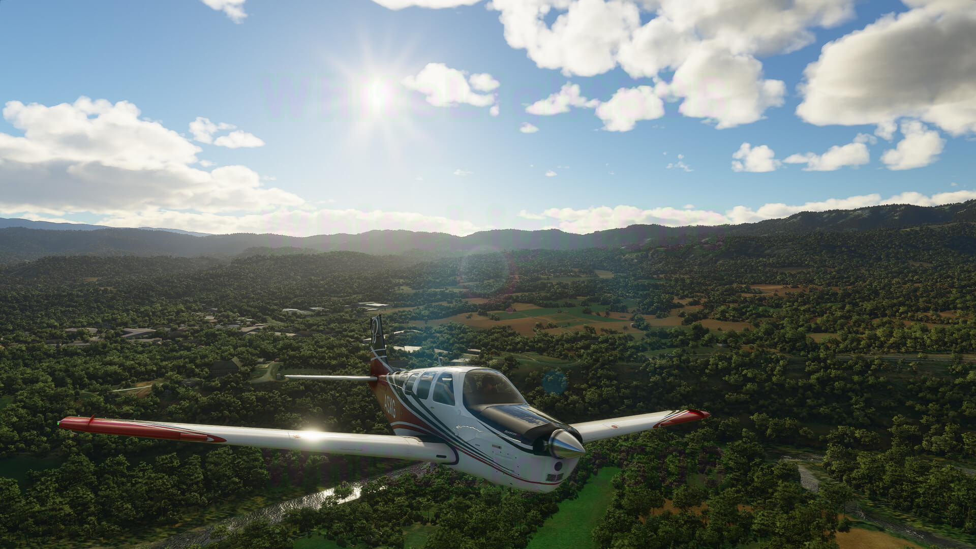 Microsoft Flight Simulator captura 7 paisaje verde