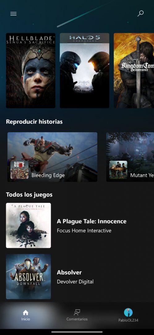 Pantalla de Project xCloud en España