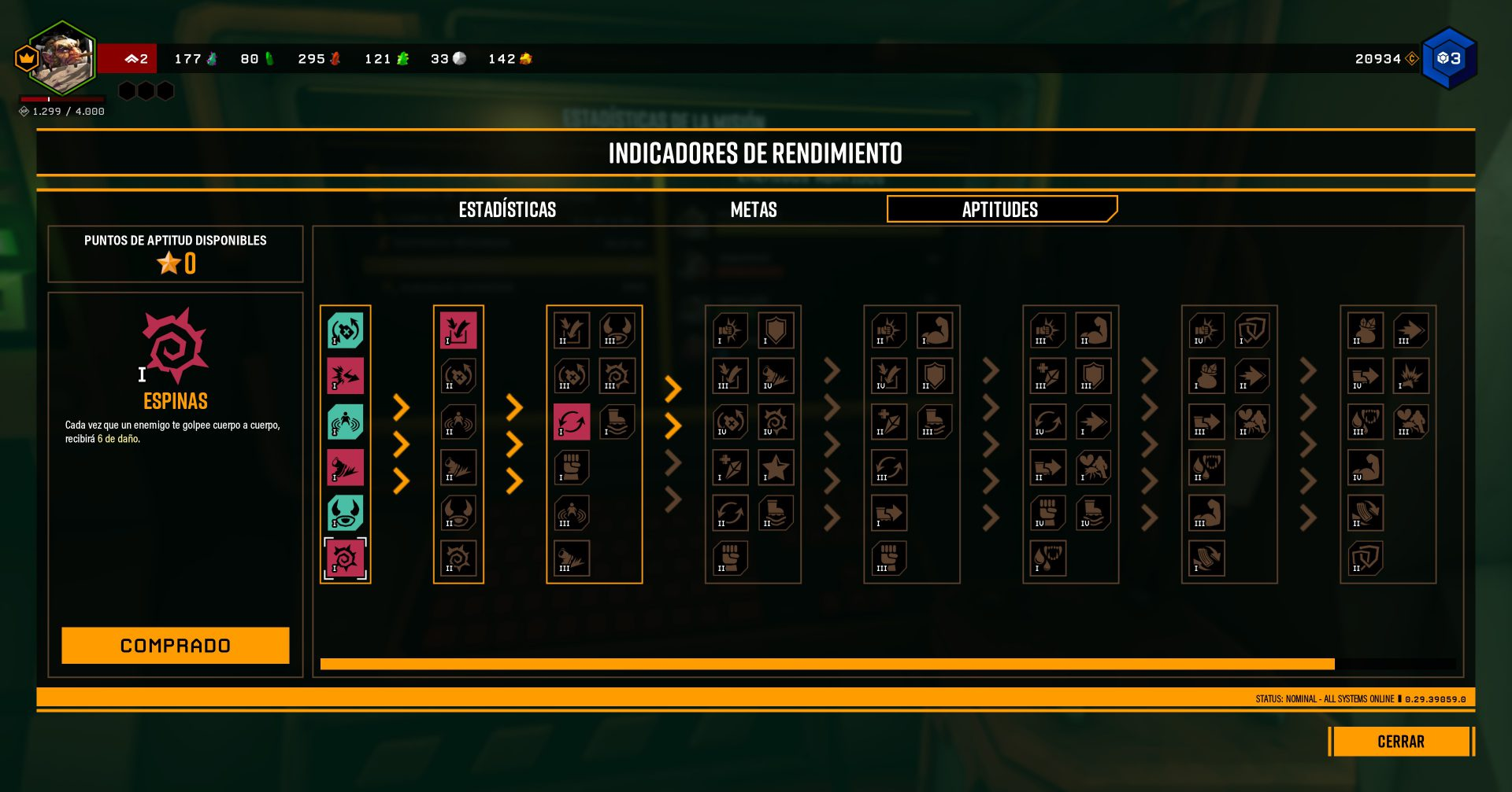 The skill points are used in character development in the Deep Rock galactic