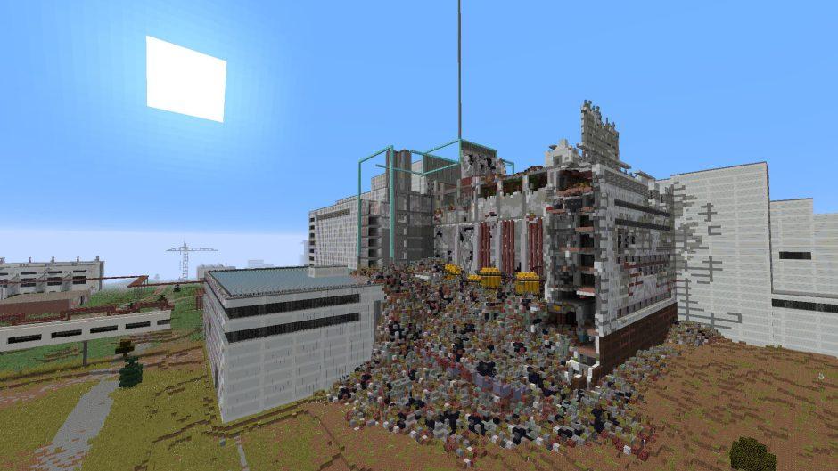 Un jugador de Minecraft dedica dos años a recrear Chernobyl