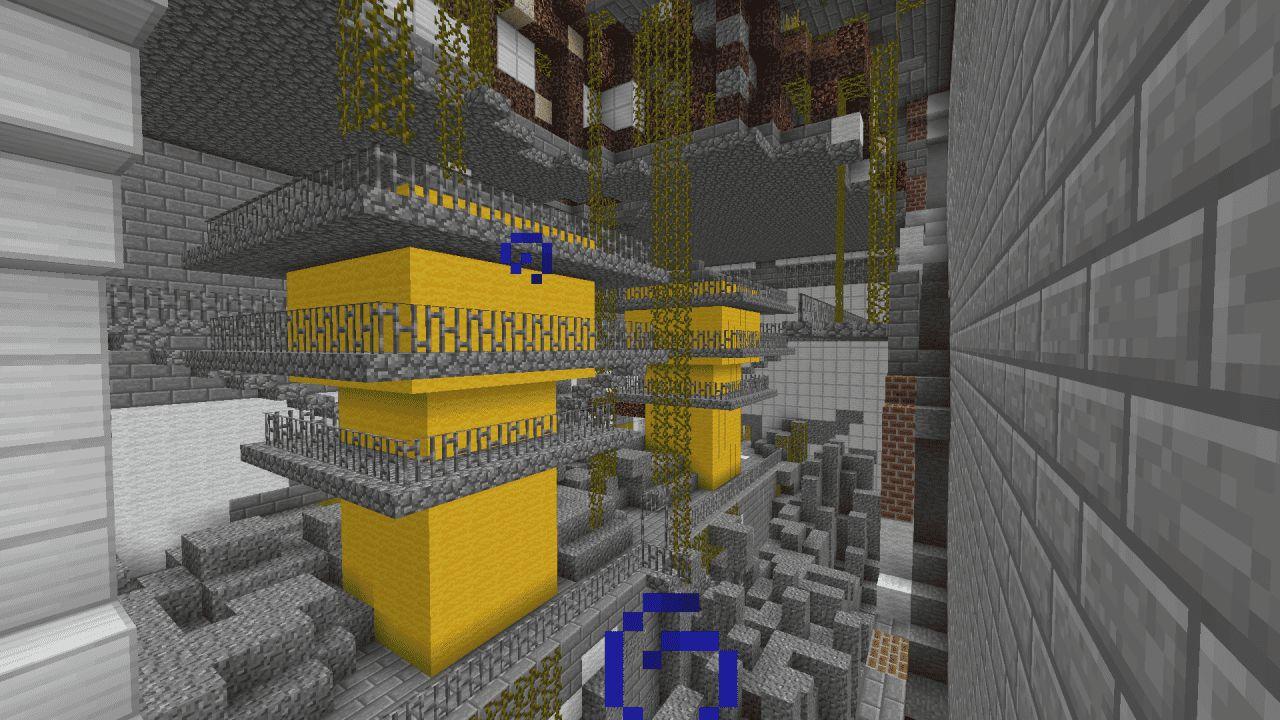 Chernobyl en Minecraft interior de un edificio