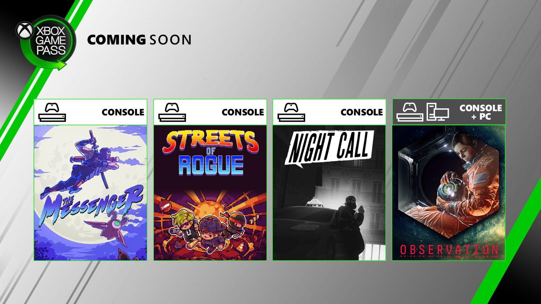 Ya disponibles los nuevos juegos de Xbox Game Pass