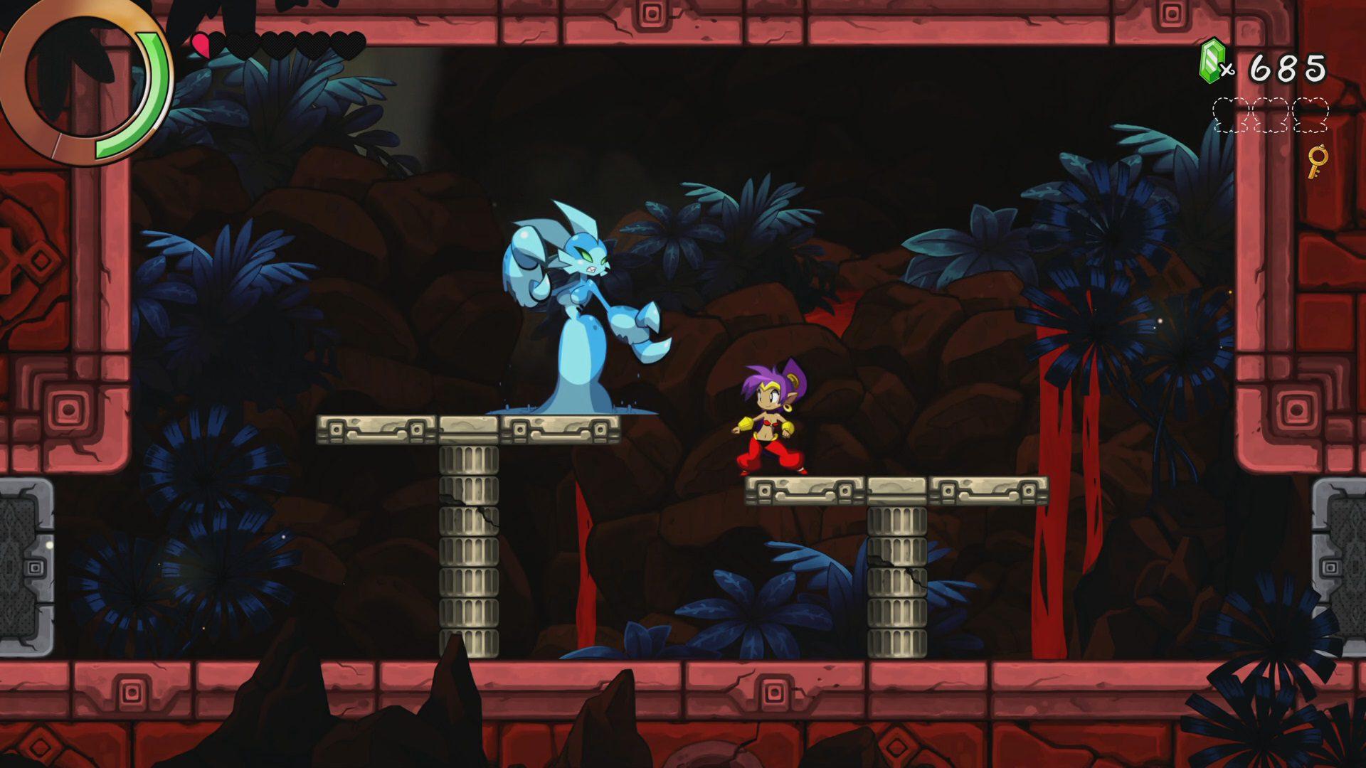 Lucha contra un enemigo Shantae and the Seven Sirens