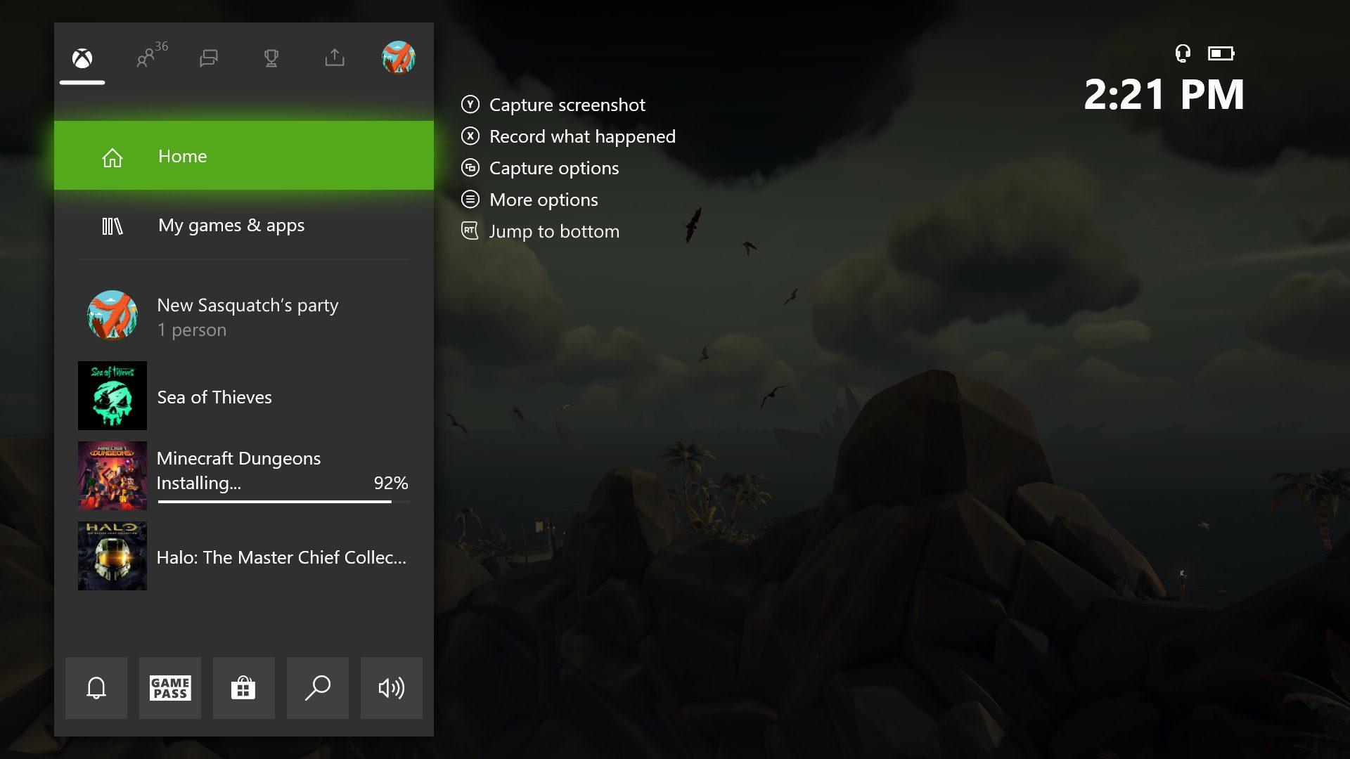 Nueva guía en 2007 de Xbox One
