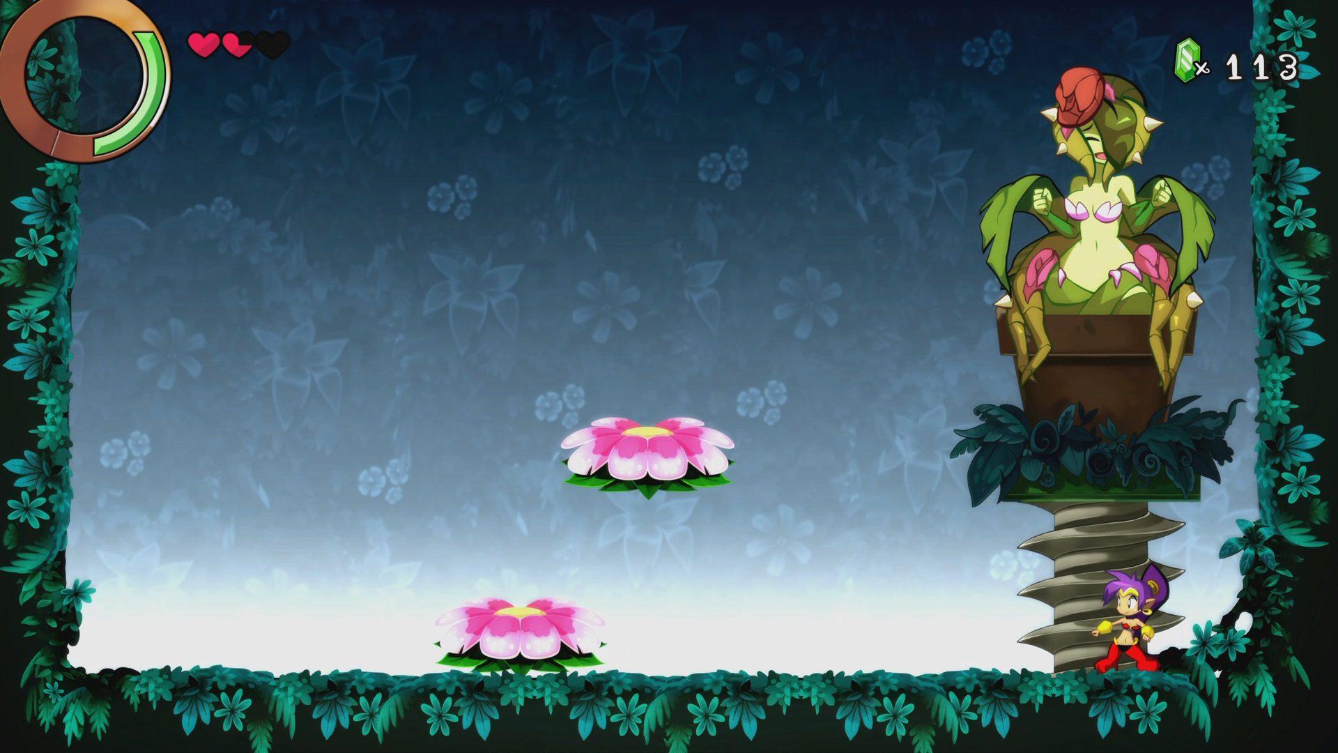 Pelea contra un boss en Shantae and the Seven Sirens