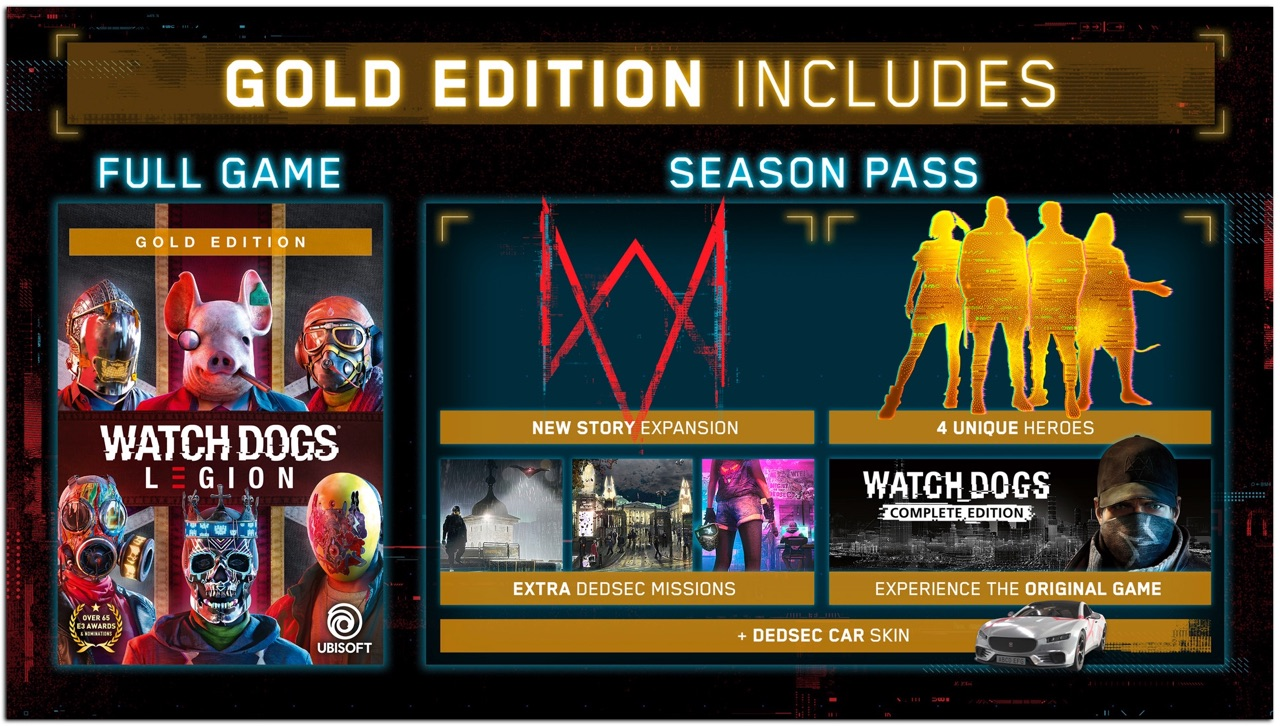 El pase de temporada de Watch Dogs Legion regalará una copia del primer juego