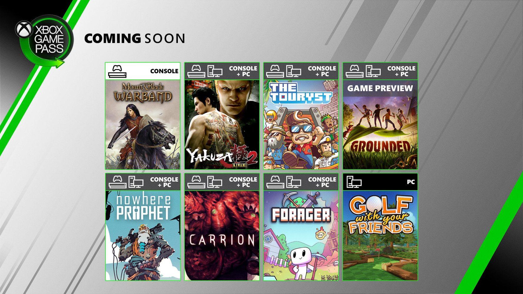 Desvelada la segunda tanda de juegos de julio para Xbox Game Pass