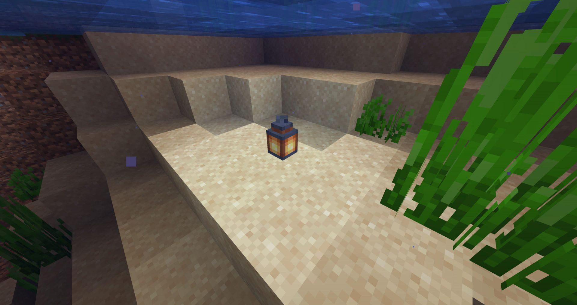 Farolillo debajo del agua en la Snapshot 20W30A de Minecraft Nether Update
