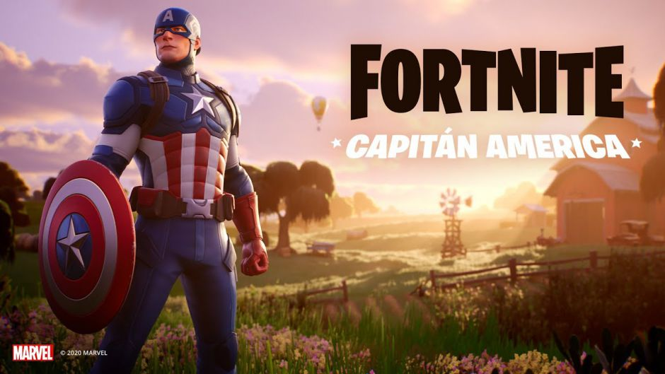 Fortnite celebra el día de la Independencia con el Capitán América