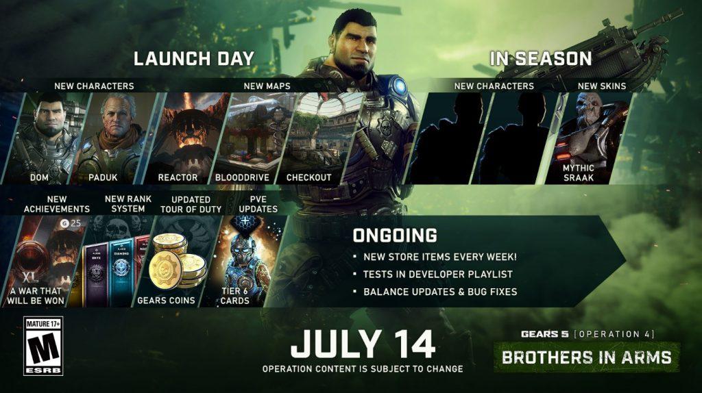 """Más contenido de la """"Operación 4"""" llegará a Gears 5 próximamente"""