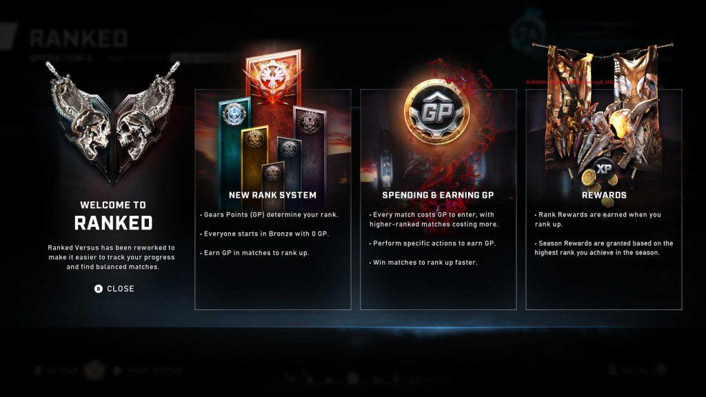 The Coalition muestra el nuevo sistema de partidas clasificatorias para Gears 5