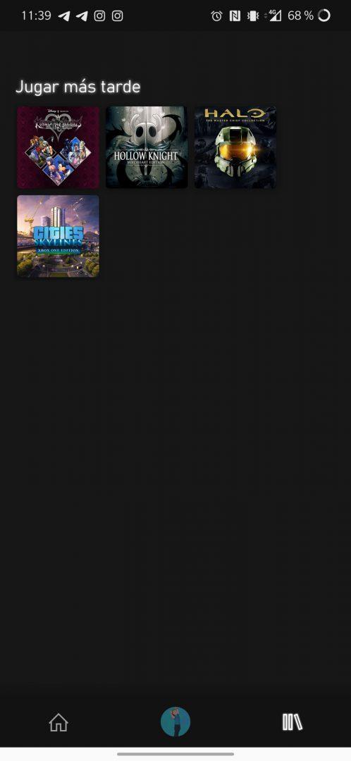 Juegar más tarde en la nueva aplicación de Xbox Game Pass Para Android
