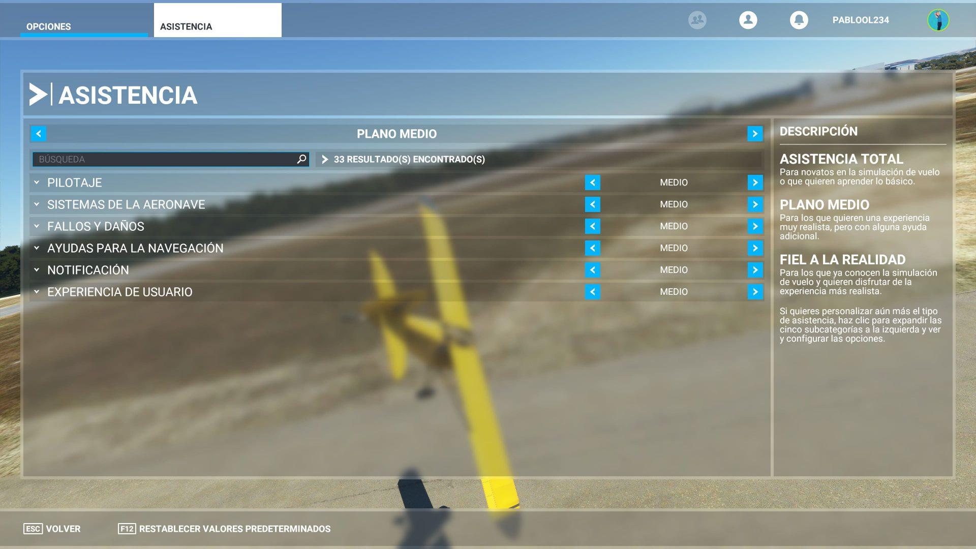 Asistencia de Microsoft Flight Simulator