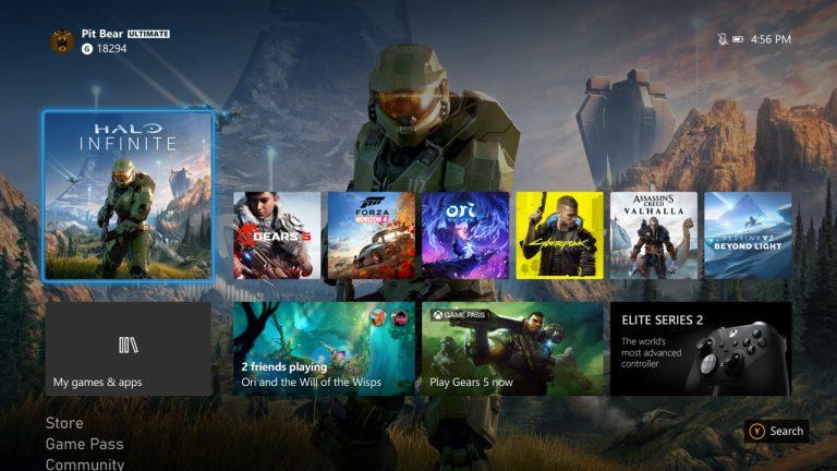 Bordes redondeados Xbox Series X y Xbox One en la actuaización 2010 de Insider