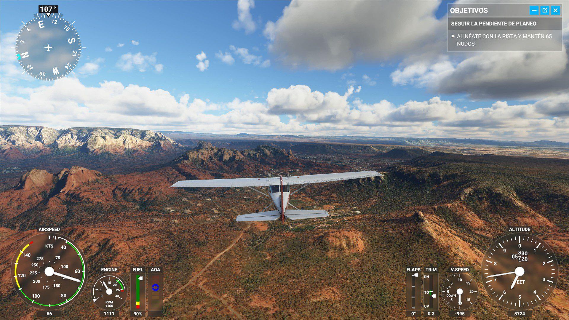 Escenario de Microsoft Flight Simulator